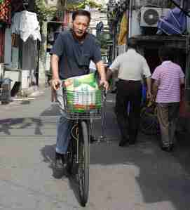 Cyclist Old City