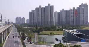 Empty high rises near Auto City