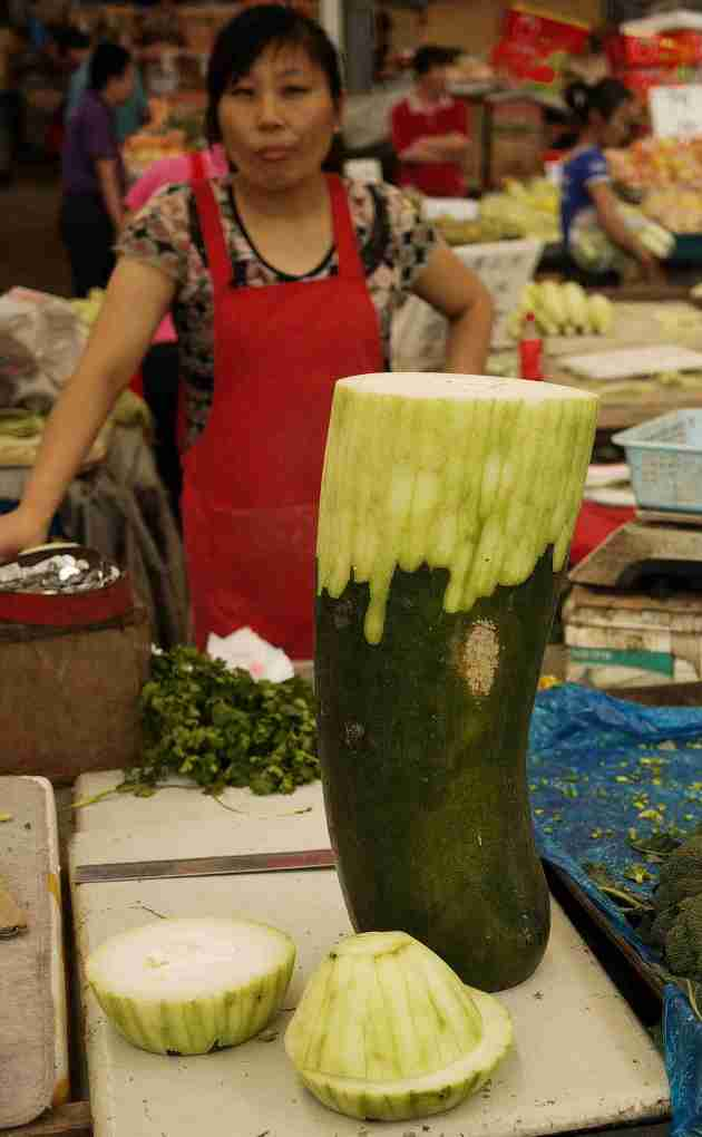 Large marrow sold by the slice