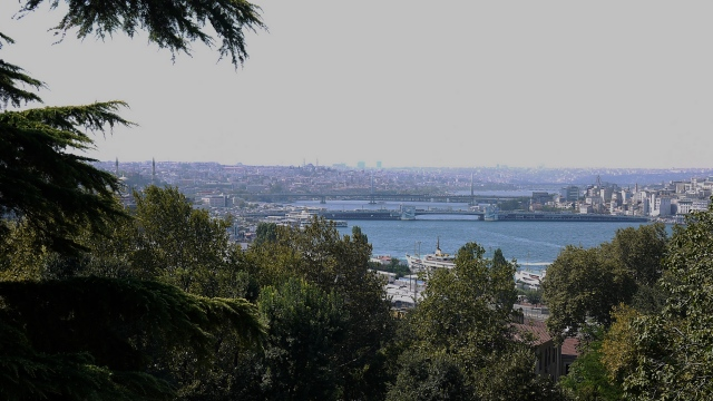 Galata Bridge and the Golden Horn from the Topkapi Palace