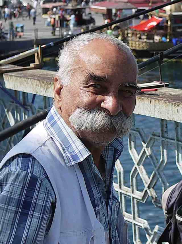 Fisherman and moustache on Galata