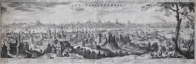 Merian's 1640 view of Constantinople and little changed today