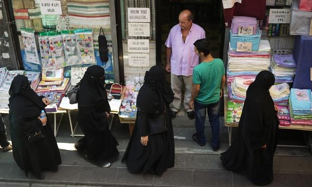 Arabian women clothes shopping
