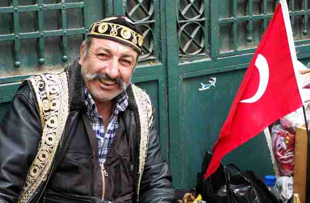 Don't need the flag to see he is a Turk