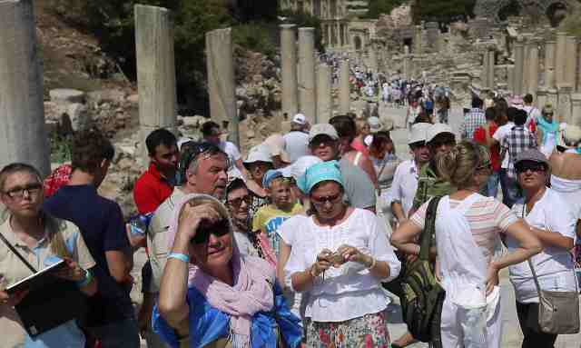 Tourists at Ephesus