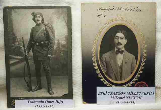 Photos of eminent Trabzon citizens at the musum