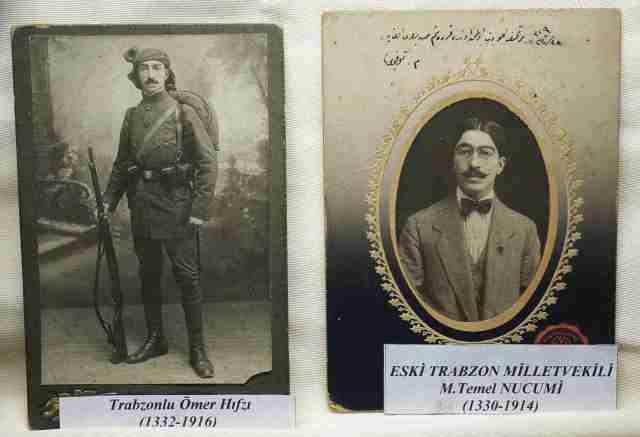 Photos of eminent Trabzon citizens at the musum