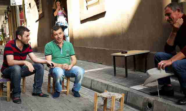 Every where in turkey tea shops have kiddies chairs