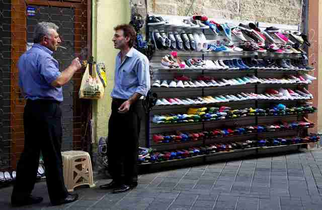 open air shoe shop