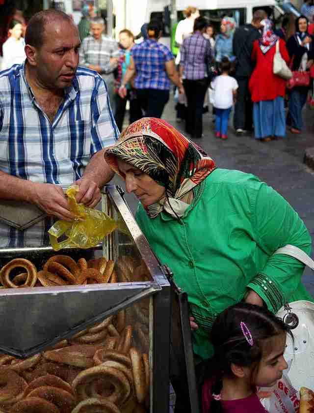 Buying bread in the bazaar