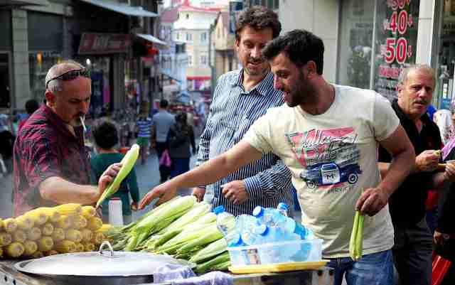 Street food in the Bazaar