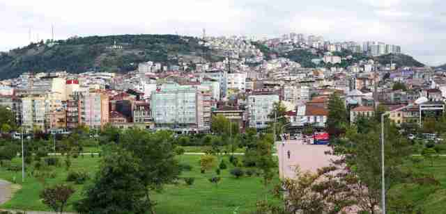 Trabzon some way from sea