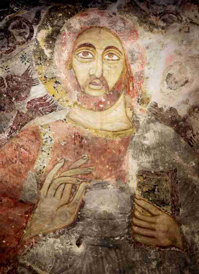One of the many 13th century frescoes