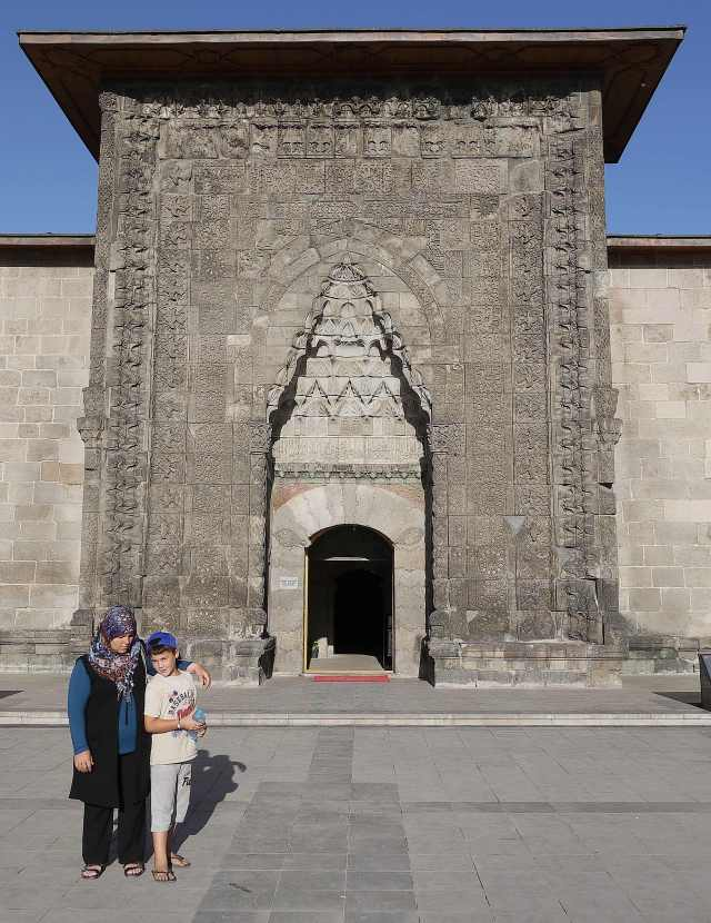 Carved entrance to the medresesi