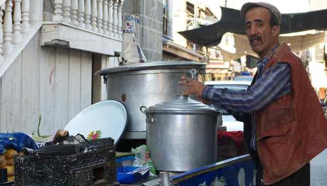 Sweet corn seller bazaar