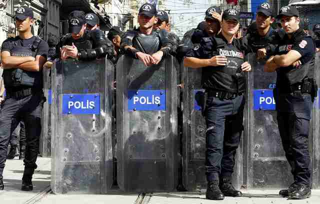 Show of force  a bit of Erdogan intimidation
