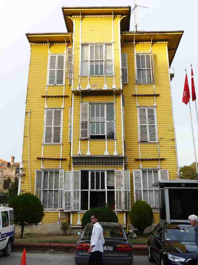 One of the last wooden houses on the  Istanbul side of the Boshorus