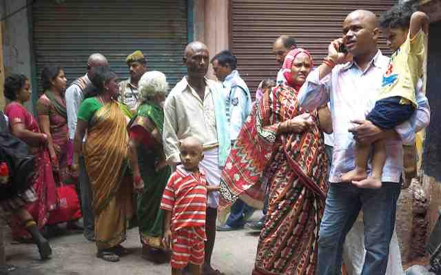 Pilgrims in old Varanasi
