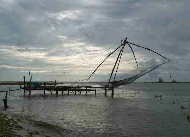 The chinese fishing nets have been in Cochi for 600 years