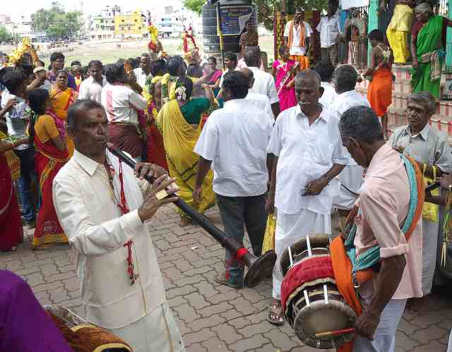 Festival to the goddess of rain  Mariamman
