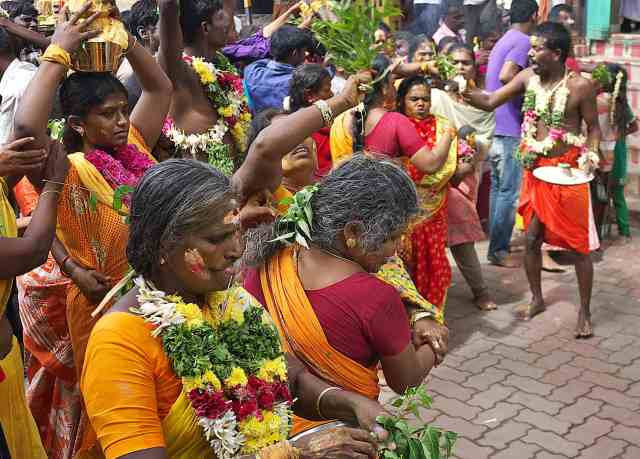 Festival to the goddess  Mariamman