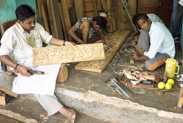 Wood carving important craft in Tamil Nadu