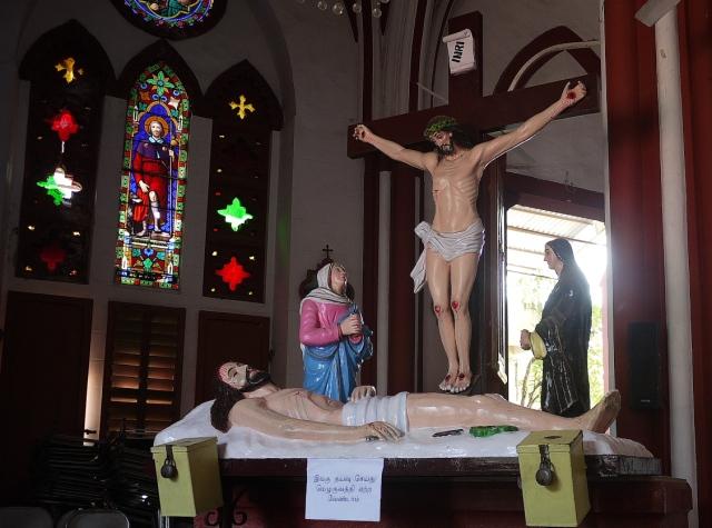Inside the Catholic Church Pondicherry