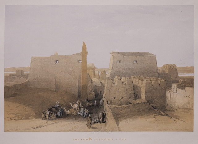 TEMPLE OF LUXOR DAVID ROBERTS