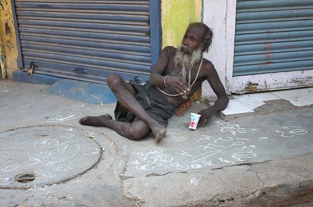 Chennai ..Beggar and Vedic numerology ?