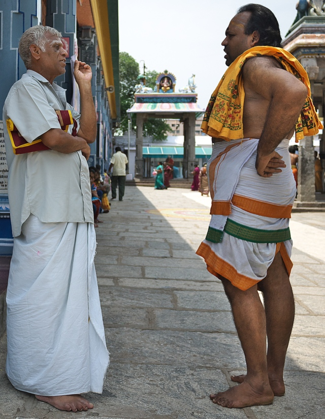 Sturdy Priest at the Parthasarathy Tample